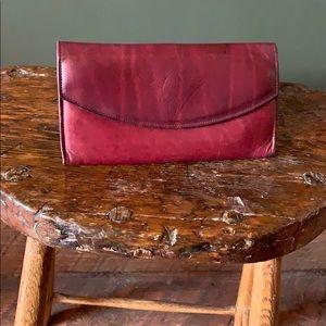 Rolfs burgundy leather wallet vintage